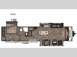 Sportsmen Destination 363FL Floorplan Image