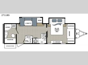 Kodiak Ultra Lite 2711BS Floorplan Image