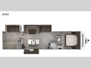 Cherokee Black Label 304BHBL Floorplan Image