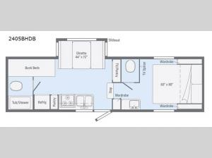 Micro Minnie 2405BHDB Floorplan Image