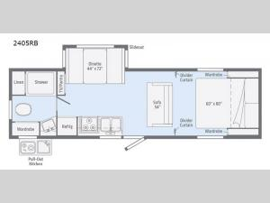 Micro Minnie 2405RB Floorplan Image