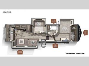 Rockwood Ultra Lite 2887MB Floorplan Image