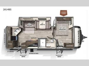 Rockwood Ultra Lite 2614BS Floorplan Image