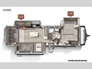 Rockwood Ultra Lite 2906BS Floorplan Image
