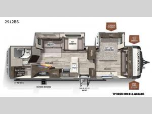 Rockwood Ultra Lite 2912BS Floorplan Image