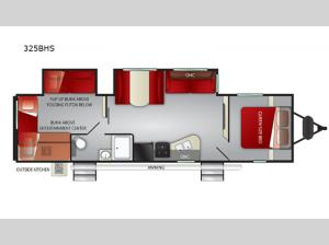 Shadow Cruiser 325BHS Floorplan Image