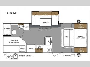 Surveyor 240BHLE Floorplan Image