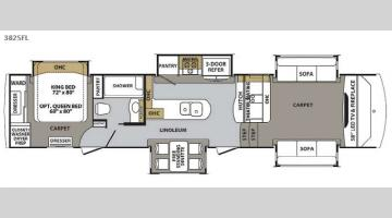Floorplan - 2017 Forest River RV Cardinal 3825FL