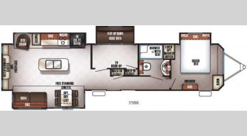 Floorplan - 2017 Forest River RV Cherokee Destination Trailers 39BR