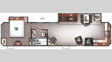 Floorplan - 2017 Forest River RV Cherokee Destination Trailers 39FK