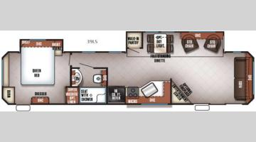 Floorplan - 2017 Forest River RV Cherokee Destination Trailers 39LS