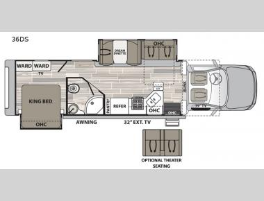 Floorplan - 2017 Dynamax Isata 5 36DS