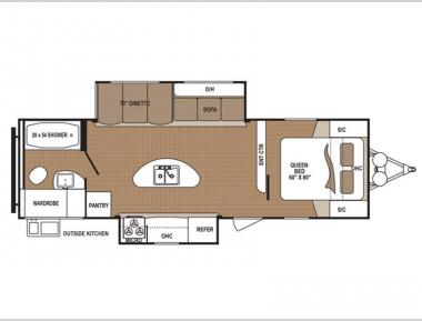 Floorplan - 2017 Dutchmen RV Aspen Trail 2730RBS
