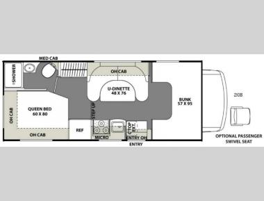 Floorplan - 2017 Coachmen RV Freelander 21QB  Chevy 4500