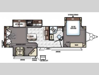 Floorplan - 2017 Forest River RV Flagstaff Classic Super Lite 832IKBS