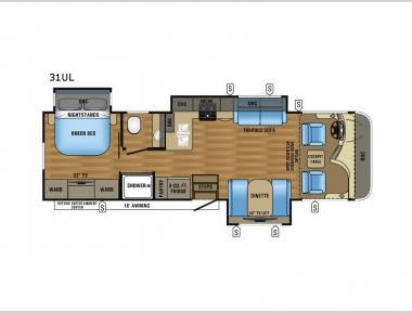 Floorplan - 2017 Jayco Precept 31UL