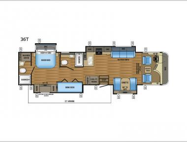 Floorplan - 2017 Jayco Precept 36T