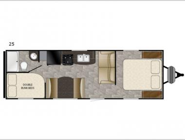 Floorplan - 2017 Heartland Trail Runner SLE 25