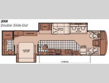 Floorplan - 2008 Fleetwood RV Bounder 35H