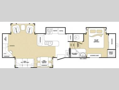 Floorplan - 2008 Keystone RV Montana 3600 RE