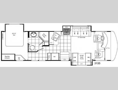Floorplan - 2008 Damon Daybreak 3135