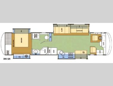 Floorplan - 2008 Coachmen RV Sportscoach Pathfinder 386 QS