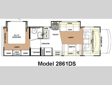 Floorplan - 2007 Forest River RV Forester 2861DS
