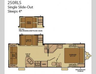 Floorplan - 2008 Fleetwood RV Terry 250RLS