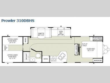 Floorplan - 2008 Fleetwood RV Prowler 310DBHS