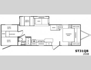 Floorplan - 2008 CrossRoads RV Sunset Trail ST31QB