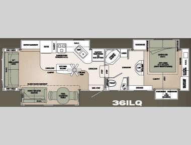 Floorplan - 2008 Carriage Carri-Lite 36ILQ