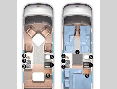 Floorplan - 2008 Roadtrek 190-Versatile