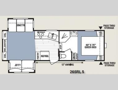 Floorplan - 2008 KZ Spree 265RLS