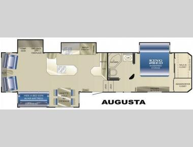 Floorplan - 2009 Heartland Landmark Augusta