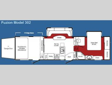 Floorplan - 2009 Keystone RV Fuzion 302