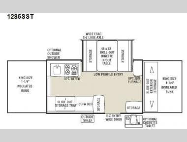 Floorplan - 2008 Coachmen RV Clipper Classic 1285SST