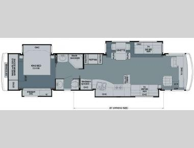 Floorplan - 2009 Newmar Dutch Aire 4304