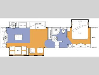 Floorplan - 2009 Ameri-Camp Summit Ridge Reserve RSV36RK