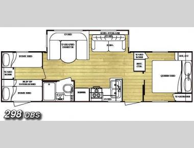 Floorplan - 2009 Gulf Stream RV Conquest 298DBS