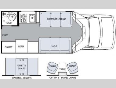 Floorplan - 2009 Holiday Rambler Augusta Touring 210