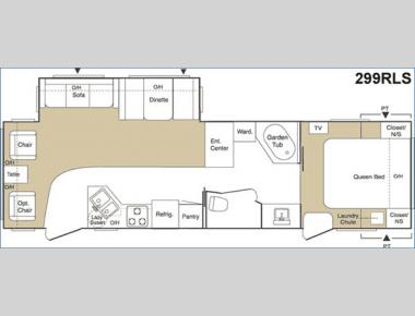 Floorplan - 2005 Keystone RV Sprinter 299RLS