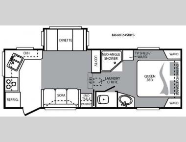 Floorplan - 2009 Keystone RV Cougar 245RKS
