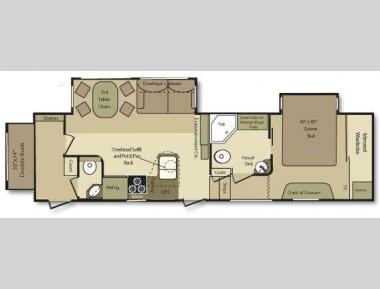 Floorplan - 2009 Open Range RV 335BHS