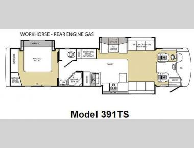 Floorplan - 2009 Forest River RV Georgetown SE 391TS