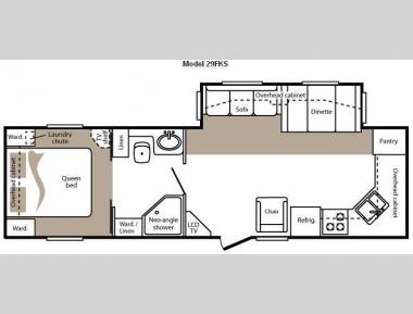 Floorplan - 2009 Keystone RV Cougar 29FKS