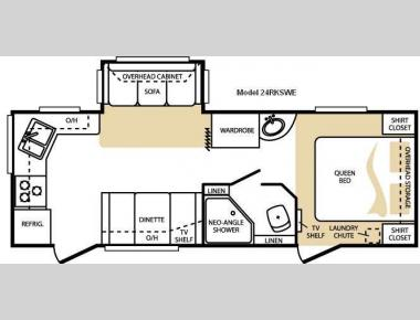 Floorplan - 2010 Keystone RV Cougar 24RKSWE