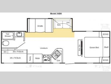Floorplan - 2010 Keystone RV Sprinter Select 26BH