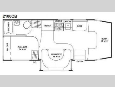 Floorplan - 2010 Coachmen RV Freelander 2100CB
