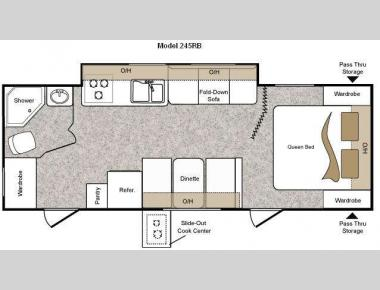 Floorplan - 2010 Keystone RV Passport 245RB