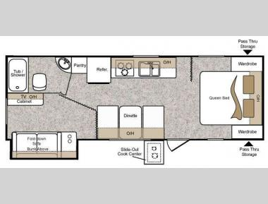 Floorplan - 2010 Keystone RV Passport 250BH